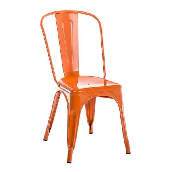BHM Germany Jídelní židle kovová Direct, oranžová