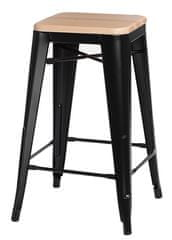 shumee Borski stol Paris Wood 65cm, črni bor naravni