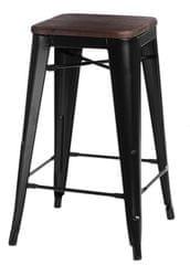 shumee Barová stolička Paris Wood 75cm borovica čierna
