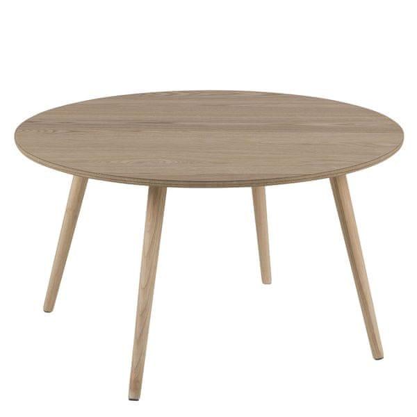 Design Scandinavia Konferenční stolek kulatý Stanfield, 80 cm, jasan