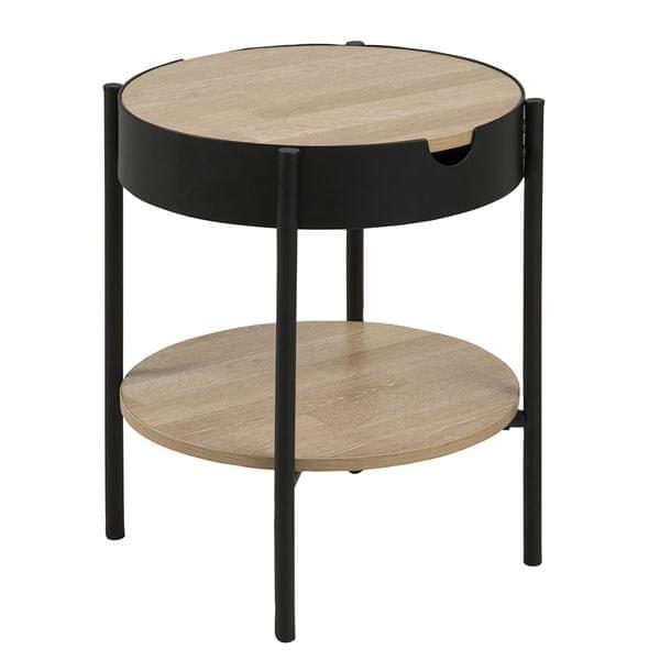 Design Scandinavia Konferenční / servírovací stolek Lipton, 45 cm, dub