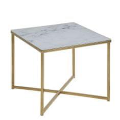 Design Scandinavia Konferenčný stolík hranatý Alma, 50 cm, zlatá