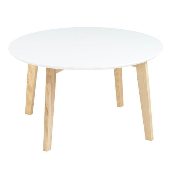 Design Scandinavia Konferenční stolek Limona, 80 cm bílá