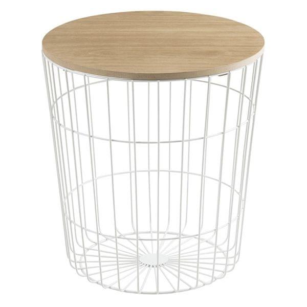 Design Scandinavia Konferenční stolek Pavola, 43 cm, bílá