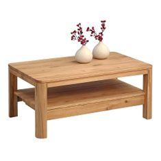 Artenat Konferenční stolek se zásuvkou Erik, 105 cm, masiv divoký dub