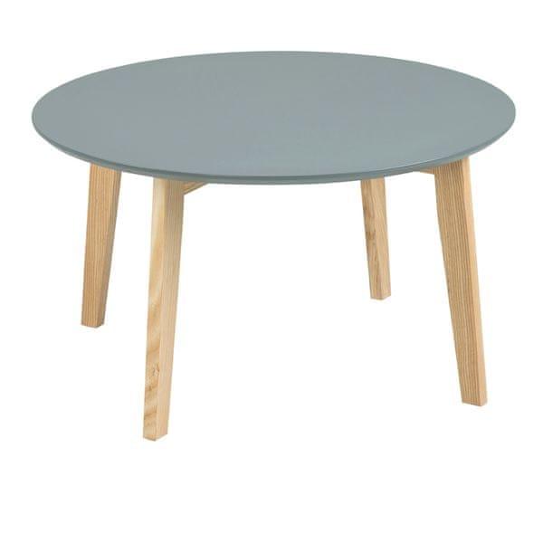 Design Scandinavia Konferenční stolek Limona, 80 cm tmavě šedá