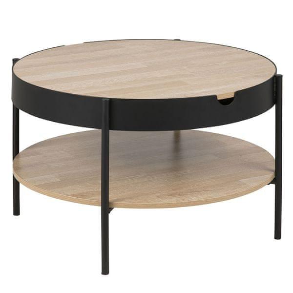 Design Scandinavia Konferenční / servírovací stolek Lipton, 75 cm, dub