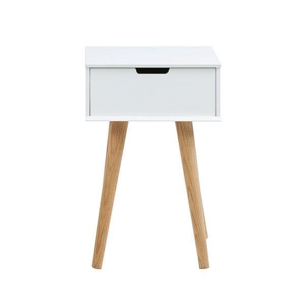 Design Scandinavia Noční stolek se zásuvkou Marika, 63 cm