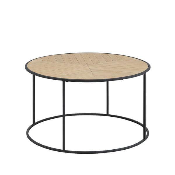 Design Scandinavia Konferenční stolek Kortez kulatý, 80 cm