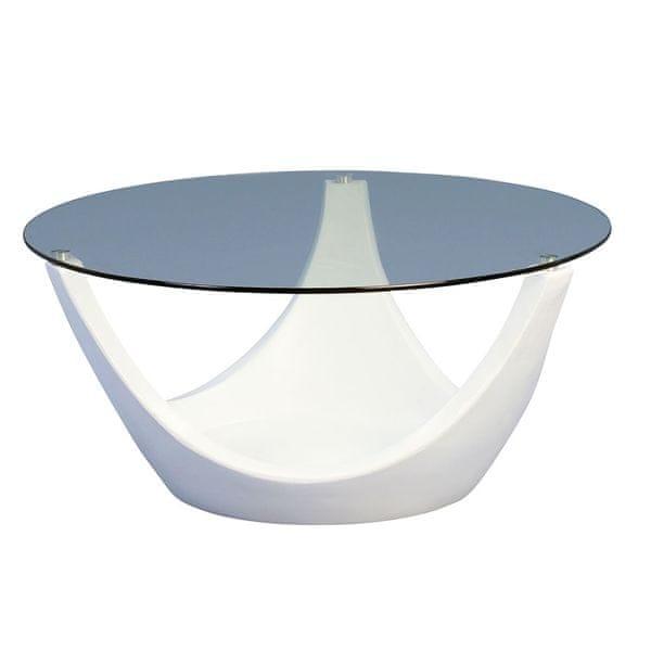 Artenat Konferenční stolek skleněný Mogul, 80 cm, bílá