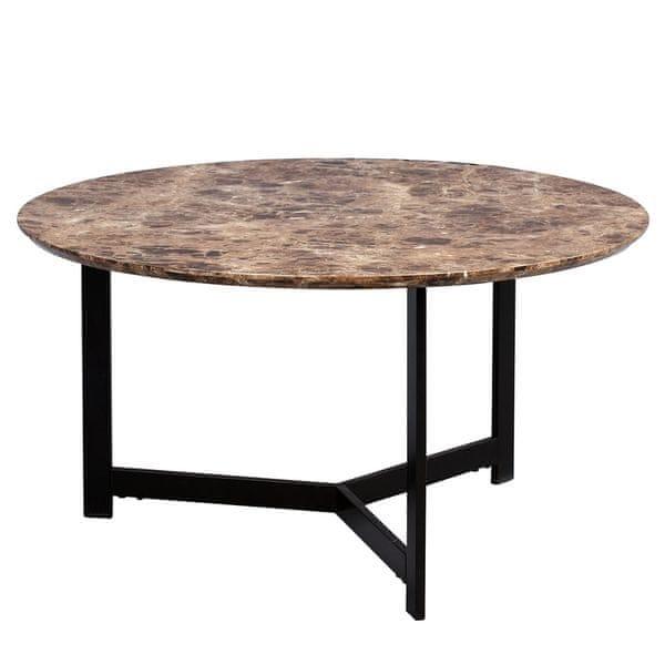 Artenat Konferenční stolek Volker, 80 cm, tmavý mramor