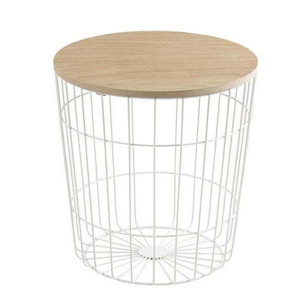 Design Scandinavia Konferenční stolek Pavola, 39 cm, bílá