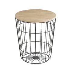 Design Scandinavia Konferenční stolek Pavola, 34 cm, černá