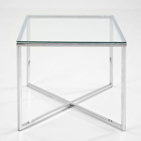 Design Scandinavia Konferenční stolek Claire hranatý, čirá