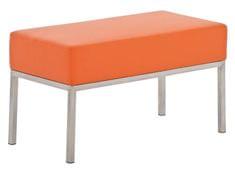 BHM Germany Lavica s nerezovou podnožou Malaga, 80x40 cm, oranžová