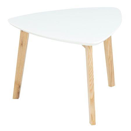 Design Scandinavia Konferenční stolek Wingle, 50 cm, bílá