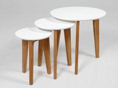 Design Scandinavia Konferenční stolky Alvin, sada 3 ks