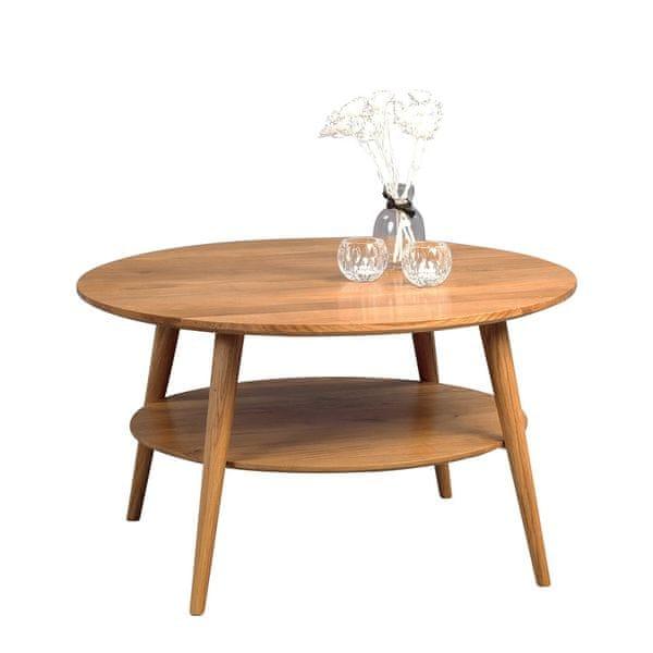 Artenat Konferenční stolek z masivu Stella, 80 cm, divoký dub