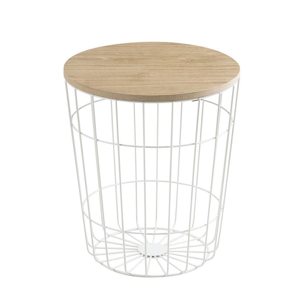 Design Scandinavia Konferenční stolek Pavola, 34 cm, bílá