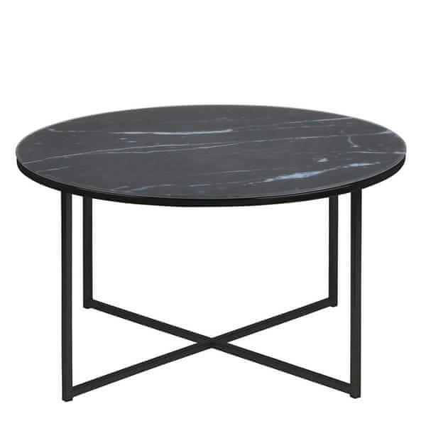 Design Scandinavia Konferenční stolek kulatý Alma, 80 cm, černá