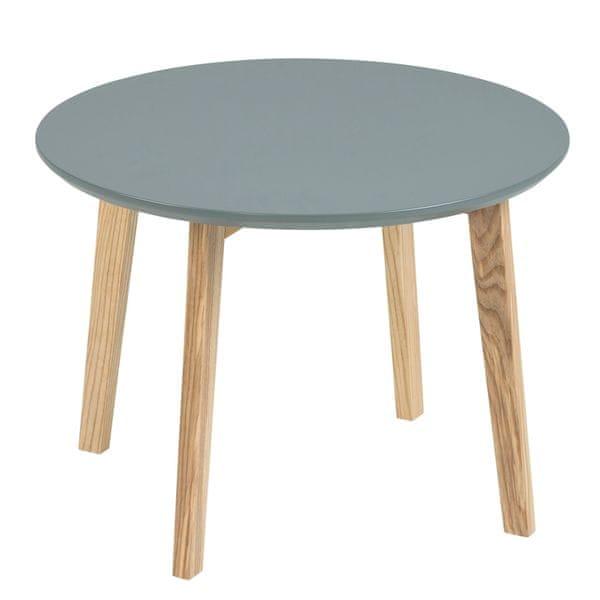 Design Scandinavia Konferenční stolek Limona, 50 cm tmavě šedá