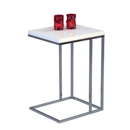 Artenat Odkládací stolek Ragnar, 43 cm, bílá/chrom