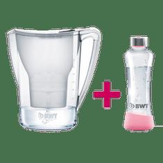 BWT vrč za filtriranje vode Penguin, 2,7 L, bel + steklenica