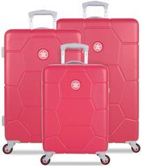 SuitSuit Sada cestovních kufrů Caretta malinová - rozbaleno