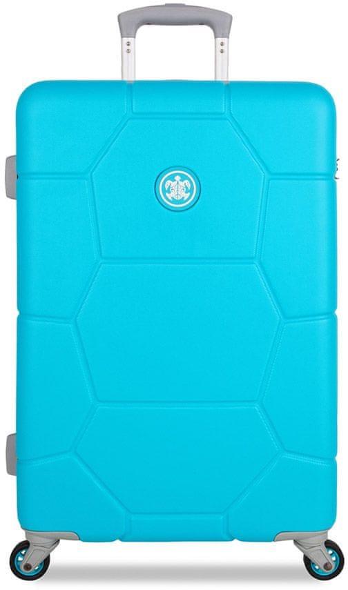 SuitSuit Cestovní kufr Caretta M Peppy Blue