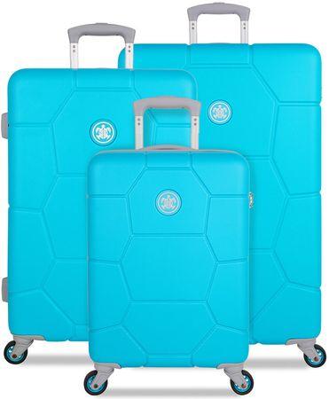 SuitSuit Sada cestovních kufrů Caretta Peppy Blue