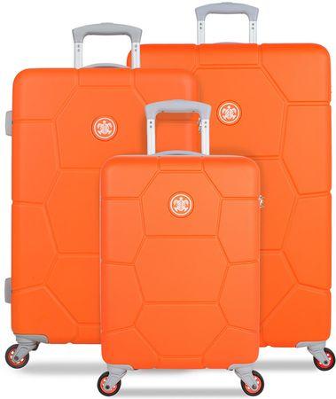 SuitSuit Sada cestovních kufrů Caretta Vibrant Orange