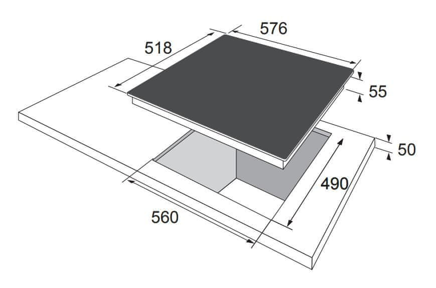 Amica sklokeramická deska DS 6401 B
