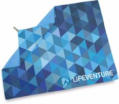 Lifeventure Printed SoftFibre Trek Towel blue triangles