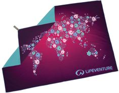 Lifeventure Printed SoftFibre Trek Towel flowers
