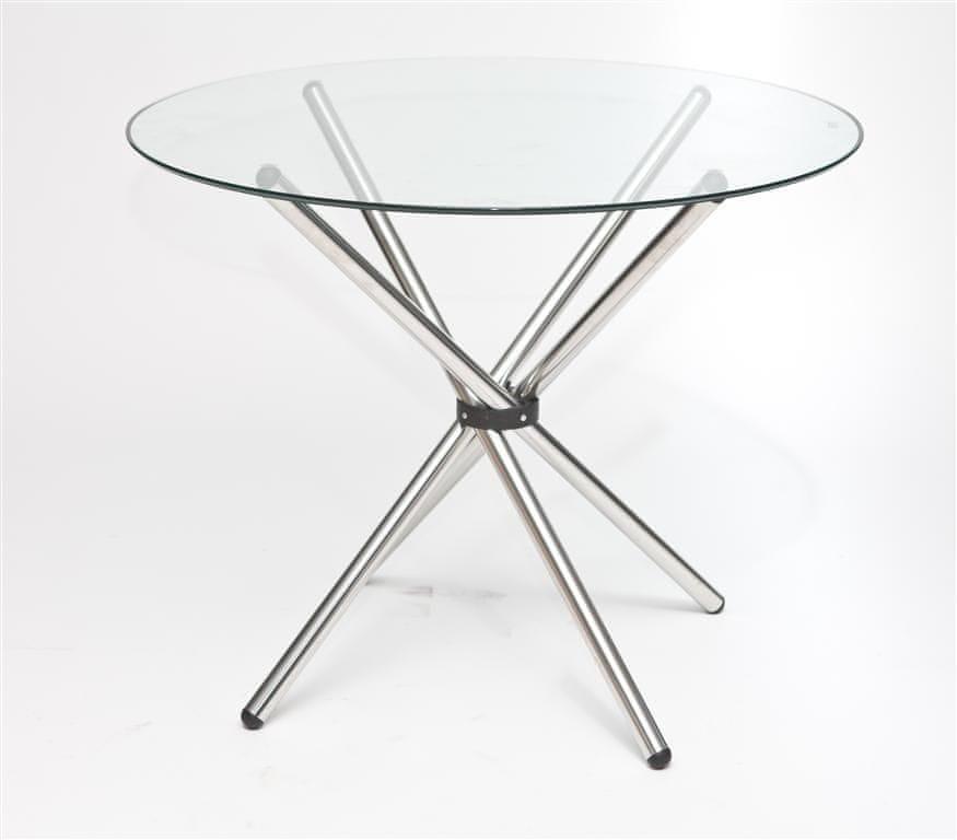 Mørtens Furniture Jídelní stůl skleněný Karl, 90 cm