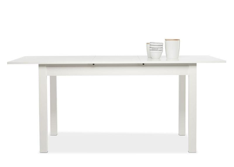 FARELA Jídelní stůl rozkládací Kronborg, 180 cm, bílá