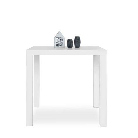FARELA Jídelní stůl Priscilla, 80 cm, bílá lesk