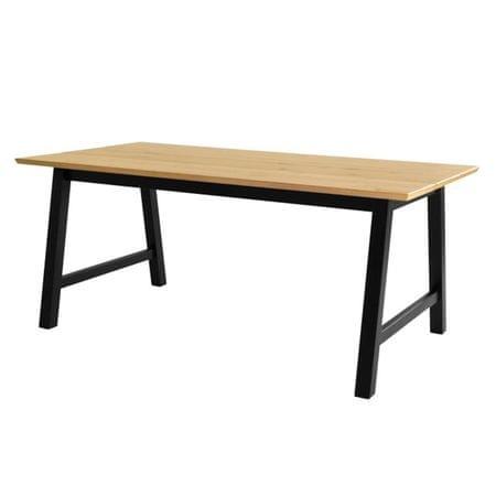 Danish Style Jídelní stůl Spain, 180 cm, černá/dub