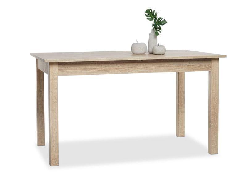 FARELA Jídelní stůl rozkládací Kronborg, 160 cm, dub