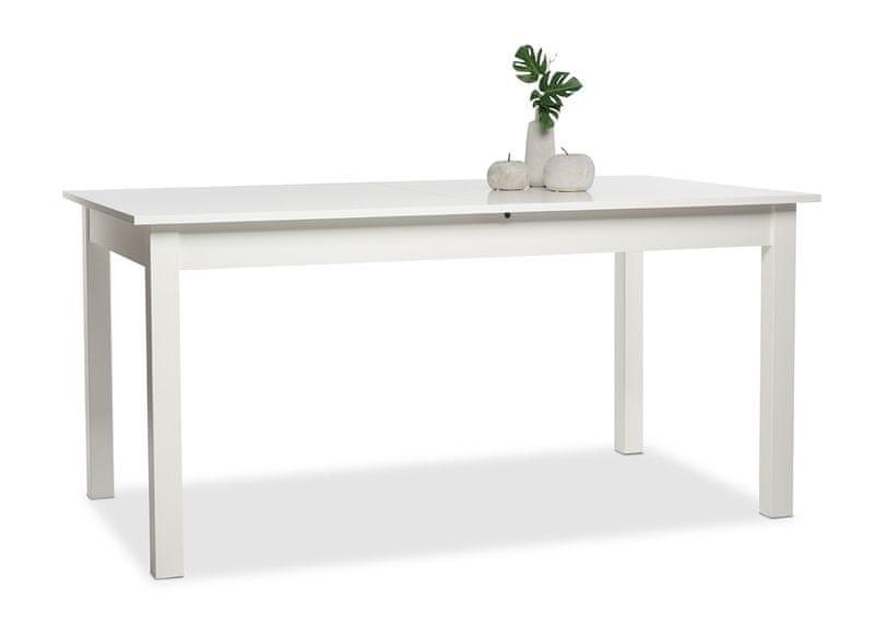 FARELA Jídelní stůl rozkládací Kronborg, 200 cm, bílá