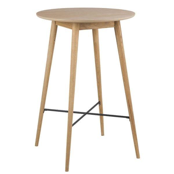 Design Scandinavia Barový stůl kulatý Nagy, 70 cm