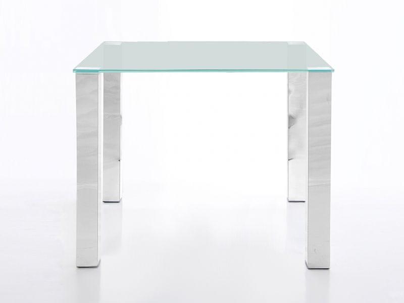 Design Scandinavia Stůl se skleněnou deskou Canton 90 cm, čiré sklo
