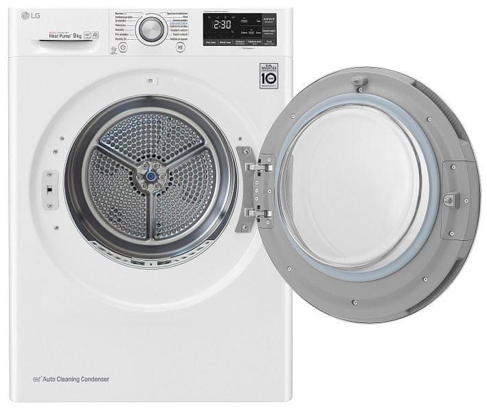 LG sušička prádla RC91U2AV3W + 10 let záruka na motor a kompresor - použité