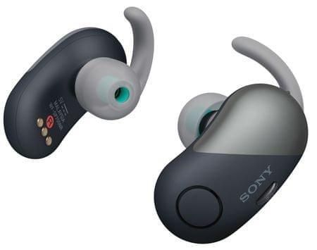 SONY słuchawki douszne bezprzewodowe WF-SP700N, czarne