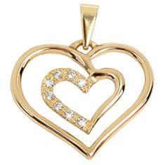 Brilio Něžný zlatý přívěsek Srdce 249 001 00432 - 1,05 g zlato žluté 585/1000