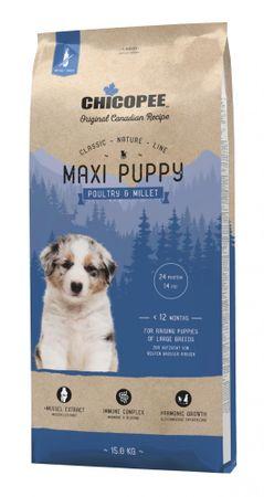 Chicopee Karma dla szczeniąt dużych ras Classic Nature Maxi Puppy Poultry & Millet 15 kg