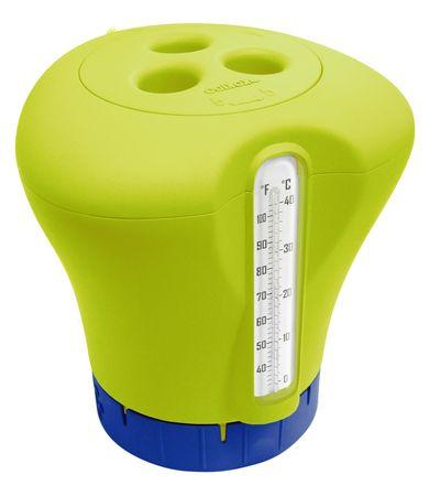 Marimex Plovák na chlor s teploměrem - žlutozelená