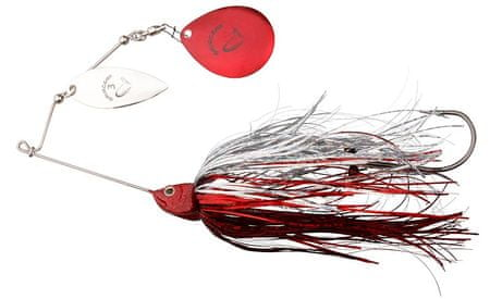 Savage Gear Blyskáč Da'Bush Spinnerbait Red Silver Flash 16 cm