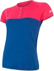 Sensor t-shirt damski z guzikami Merino Air PT