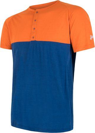 Sensor moška majica Merino Air PT, oranžno modra, M